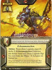 Warhammer invasion - 1x principaux hornnacken KROQ-même #001 - masqué roi