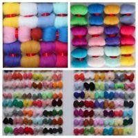100 Colors Random 12Pcs 5g Hand Spinning Wool Fibre Roving For Needle Felting