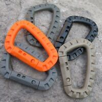 1Pcs Buckle Key Chain D-Ring Snap Plastic Clip Hook Outdoor Carabiner Camping