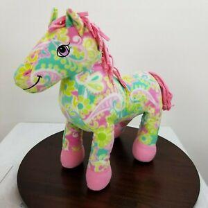 "Melissa And Doug Beeposh Horse Plush 18"" Pony Pink Green Paisley Floral Floppy"