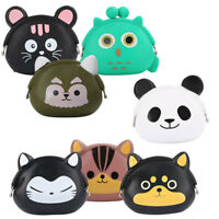 Cute Silicone Coin Purse Key Animal Case Money Change Wallet Small Bag Kids Gift