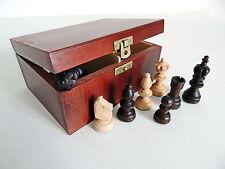 OLYMPIC Nuovo di zecca in Legno Pezzi degli scacchi in scatola di immagazzinaggio fatti a mano marrone