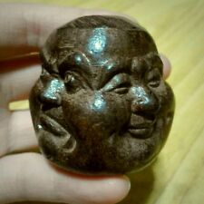 Buddha Head 4 Four Faces Bust Statue new small Budai tibet Gautama wood carved