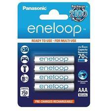 4x Panasonic Eneloop Micro AAA 750 MAH BATTERIA RICARICABILE RICARICA 2100 volte