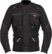 Weise Zurich Mens Black Textile Waterproof Motorcycle Jacket New RRP £129.99!!