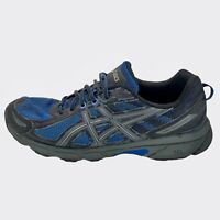 Asics Mens Gel Venture 6 T7G1N Black Blue Running Shoes Lace Up Low Top Size 10