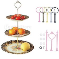 3 Tier Cake Cupcake Dessert Fruit Plates Stand Support Rack Wedding Party Supply