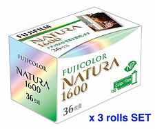 FUJIFILM 1600-N 36EX NATURA 1600 Fuji Fujicolor 35mm Color film #3 Rolls SET