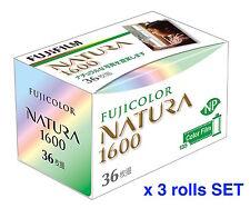 FUJIFILM 1600-N 36EX NATURA 1600 Fuji Fujicolor 35mm Color film #3 Rolls SET