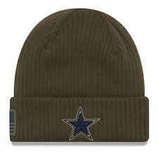 Dallas Cowboys New Era 2018 Salute to Service NFL Sideline Knit Hat -Olive