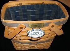 Longaberger Collectors Club Membership Basket 1996 Charter Member Liner And More