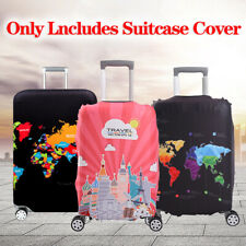 1PC Protective World Map Suitcase Trolley Protector Luggage Case Cover