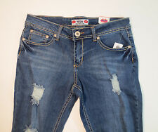 Women's WAM What About Me Distressed Jeans Pants 7/8 Measures 31x27
