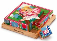 WOODEN CUBE PUZZLE FAIRIES AND PRINCESSES - MELISSA DOUG
