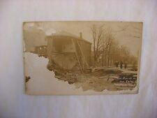 Vtg Real Photo Postcard Rppc Chillicothe Ohio Oh 1913 Flood Fourth Street - #381