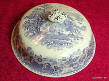 """Wood & Sons Enoch (Seaforth - Blue)  6 1/8"""" BUTTER / CHEESE DISH DOME No plate"""