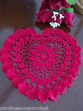 Crochet Doily, Lacy Red Heart, PaulineAnneCrochet