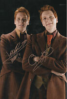 HARRY POTTER personally signed 12x8 - WEASLEY twins - James & Oliver Phelps