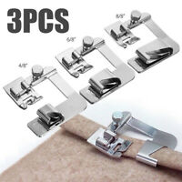 3Pcs Set Domestic Sewing Machine Foot Presser Rolled Hem Feet for Brother Singer
