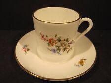 Royal Worcester Porcelain Cabinet Demitasse Cup & Saucer Danbury Mint Collection