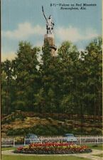 VTG Vulcan on Red Mountain in Birmingham Alabama AL Postcard
