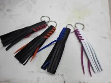 FRINGED Buffalo LEATHER  Key Chain for HARLEY HONDA MOTORCYCLE Lots of 500