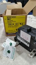 Square D QOM100VH 100A 2P 240V Breaker New Surplus in Box