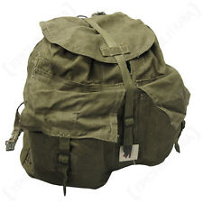 Genuine Czech Army M60 CANVAS BACKPACK Olive Green Military Surplus Y Strap Pack