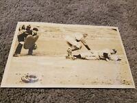 1930s VINTAGE MAJOR LEAGUE BASEBALL ACTION TYPE 1 PHOTOGRAPH GEORGE TONY RENSA