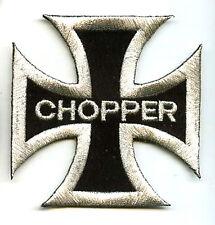 HOG BIKER CHOPPER CROSS MALTESE IRON CROSS HOG CHOPPER PATCHES