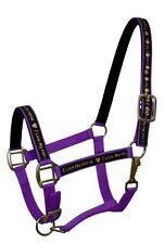"""PURPLE Nylon Horse Halter With """"I Love My Horse"""" Overlay! NEW HORSE TACK!!"""