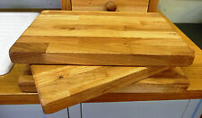 Large Handmade in Devon Solid Oak Oiled Chopping board  - 100% Solid Wood