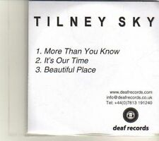 (DR916) Tilney Sky, More Than You Know - 2005 DJ CD
