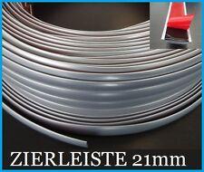 21mm x 10 METER ZIERLEISTEN Silber Metallic Chrom Auto Universal NEU
