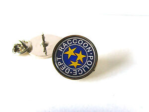 RESIDENT EVIL STARS S.T.A.R.S. RACCOON POLICE LAPEL PIN BADGE TIE PIN TACK GIFT