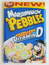 Marshmallow Pebbles FRIDGE MAGNET (2 x 3 inches) cereal box flintstones