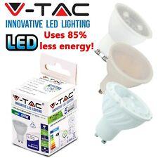 V-TAC LED GU10 Bulbs 5w = 45w 6.5W = 60W 7w 8W = 80w WATT Spot Light Lamp