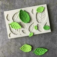 3D Rose Leaves Silicone Fondant Cake Mould Decorating Chocolate Baking Mold Tool