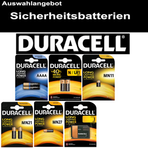 DURACELL Alkaline Sicherheits-Batterie AAAA LR1 MN11 MN21 MN27 7K67
