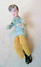 Vintage Dol-Toi / Galt Dolls House Doll - Man In Cord Trousers With Metal Feet