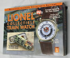 LIONEL COLLECTIBLE TRAINS WATCH (NEW IN CASE) WITH ALL PAPERWORK