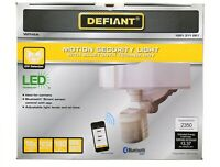 Defiant LED Security Light, Outdoor, Bluetooth, 270 Degree Motion Sensor White