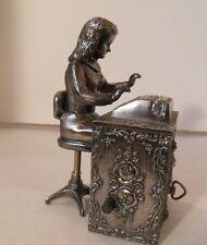 Vintage Music Box Metal HARD TO FIND Secretary Gift Typewriter Office Supplies