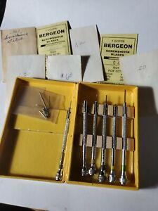 Bergeon No. 4840 5 +1extra and extra tips Jeweler & Watchmaker Screwdriver Set