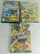 Crane Simulator / Demolition Simulator / Digger Simulator PC CD-ROM Games Bundle