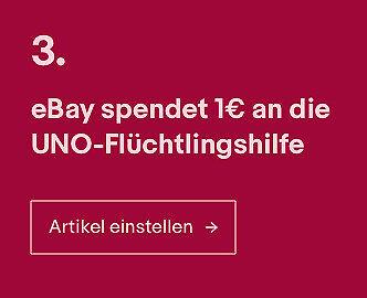 eBay spendet 1¢ an die UNO-Flüchtlingshilfe