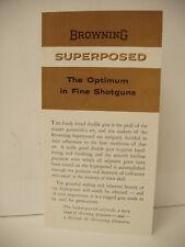 Rare Original Browning Grade I-VI 12 20 ga shotguns paper brochure advertisement