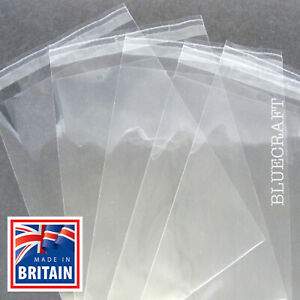 25 x 5 inch Square 130mm Premium Quality Self Seal Cellophane Cello Bags