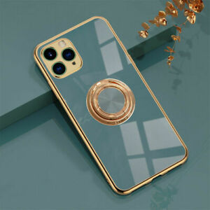 For iPhone 12 11 Pro Max XS XR 8 7 Plus Shockproof Case With Ring Stand Holder