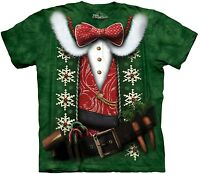 Elf Costume Shirt, Christmas Cheer Shirt, Funny X-Mas T, Mountain Brand, Sm - 5X